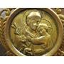 Antiguo Broche San Antonio De Padua Y Jesús En Metal Dorado