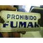 Antiguo Cartel Enlozado Bombe Prohibido Fumar