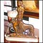 Antigua Figura Art Deco Bronce Y Base Marmol