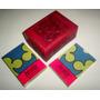 Antiguo Estuche Caja De Cuero Con 2 Cajas De Naipes Poker