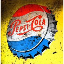 Carteles Antiguos En Chapa Gruesa 20x30cm Pepsi Cola Dr-028