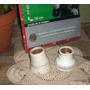 Antiguo 2 Portalamparas Porcelana Ingles S/uso Año 20 (5931)