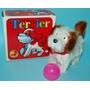 Antiguo Perro A Cuerda Terrier Made In Korea 1970 En Caja #2