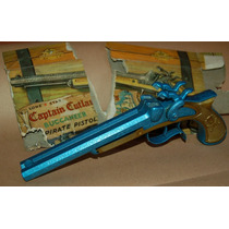 60s Antigua Pistola Pirata A Cebita Metal Fundido Colección