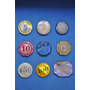 Lote X 9 Fichas Nacar N9 Casino Ruleta Antiguo Poker Juego