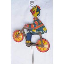 Payaso Equilibrista Antiguo Juguete De Lata Argentino