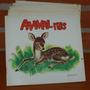 Lote X 4 Libritos Didacticos -animalitos- Japon 1960