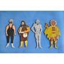 Figuras Madera Titanes En El Ring Lote X4 Juguete Antiguo