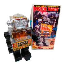 Robot Piston Pila Japon Original Nuevo 1970 Juguetes Lloret