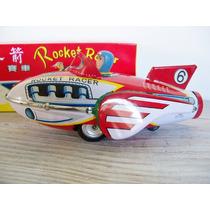 Rocket Racer Nave Espacial Antiguo Juguete Retro Chapa Caja!