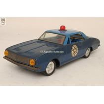 Camaro Policia Azul Gorgo Patrullero Lata Juguete Antiguo