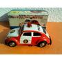 Auto A Pilas De Chapa Fire Chief Volkswagen Beetle Años 70s