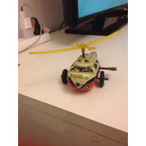 Helicoptero Vespa Cuerda De Lata Litografiada Bomberos