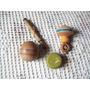 Lote De 3 Antiguos Juguetes De Madera:.yo Yo-trompo-balero