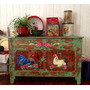 Mueble De Campo Antiguo Pintado A Mano