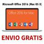 Microsoft Office 2016 Mac En Español (1dvd) + Envio Gratis