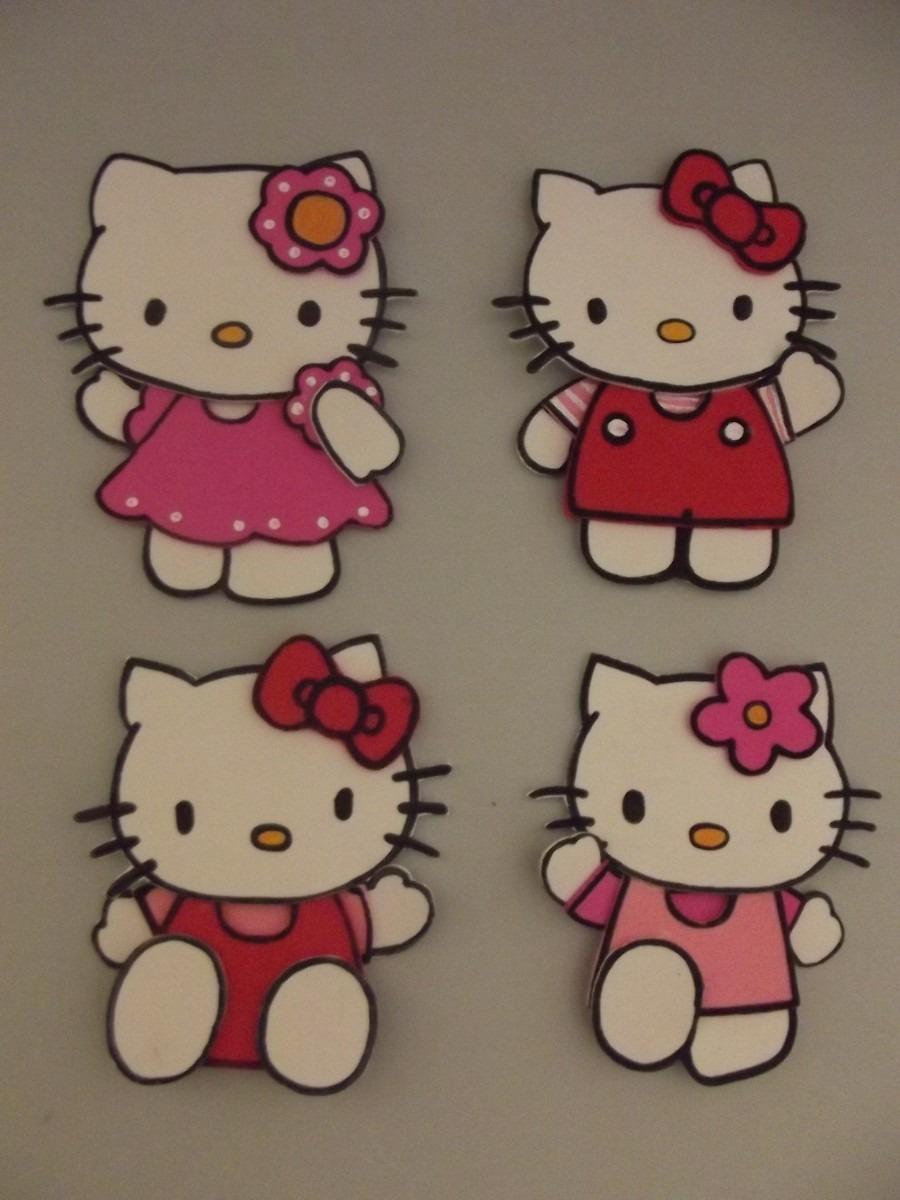 Aplique De Hello Kitty En Goma Eva X 10 U. - $ 99,90 en MercadoLibre