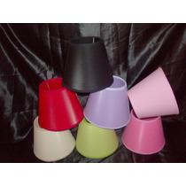 Pantalla Lampara Velador Araña 9x15 Variedad De Colores