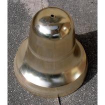 Antiguas Tulipas De Aluminio Anodizado Dorado Diametro 14 Cm