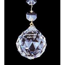 Esfera De Cristal Facetada 50mm Araña, Aplique, Caireles