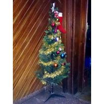Arbol Navidad Arbolito 1.40m Adornos + Luces + Pesebre