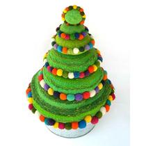 Árbol De Navidad Tejido En Telar