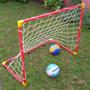 Arco De Futbol Infantil Chico 90x75x50 Cm Pelota De Regalo!