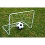 Arco Futbol Infantil Metal 0.50 X 0.80 + Red + Estacas