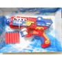 Pistola Tipo Nerf 6 Cartuchos.spiderman Capitan Hulk Ironman