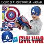 Capitan America Civil War Combo Escudo De Ataque + Mascara