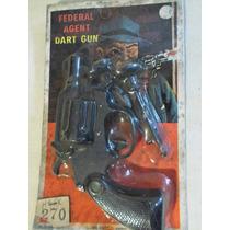 Antigua Pistola De Juguete Lanza Dardos En Blister Cerrado