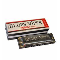 Armonica Blusera Hohner En Do Blues Viper 20 Voces Diatonica