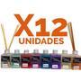 Difusor Aromatico Con Varillas Bambu Pack X12 Fragancia