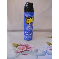 Raid Mata Moscas Y Mosquitos Polilla Insecticida X 1 U Azul