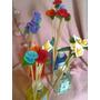 Difusores Con Palitos Decorados Con Flor De Porcelana