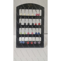 Set 12 Pares Aros Aritos Microperlas Acero Quirurgico