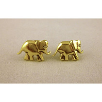 Aros De Oro Amarillo Elefantes