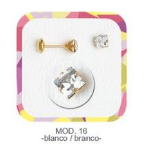 Aros Abridores Piedra Blanca Vanesa Duran Oro Gold Filled