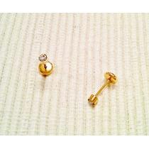 Aros Abridores Pequeños Piedra Blanca Oro Rosado Gold Filled