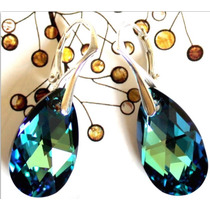Aros Swarovski Crystals Originales Engarce Plata 925 Maciza