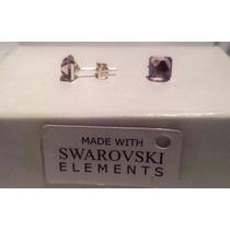 Aros Swarovski Elements Plata 925 Cubo