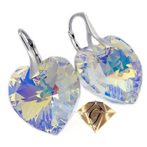 Aros14mm Swarovski Elements. Cristal Bermuda Blue Plata 925