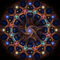 Cuadro Motivo Mandala En Tela Canvas Con Bastidor 80x80