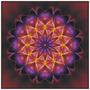 Cuadro Motivo Mandala En Tela Canvas Con Bastidor 55x55