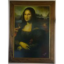 Mona Lisa - Retrato Con Estilo Propio - Óleo Sobre Madera