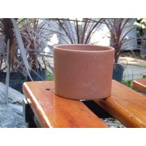 Maceta Barro Cilindro 12 Para Bonsai Cactus - Olivos