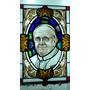 Papa Francisco Vitreaux Original Pintado A Fuego