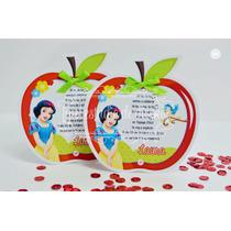 Tarjetas De Invitacion Blanca Nieves Snow White Impresa