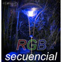Luminaria A Energia Solar De Acero Inoxidable Y Led R G B !!