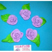 50 Rosas Artesanales En Porcelana Fria